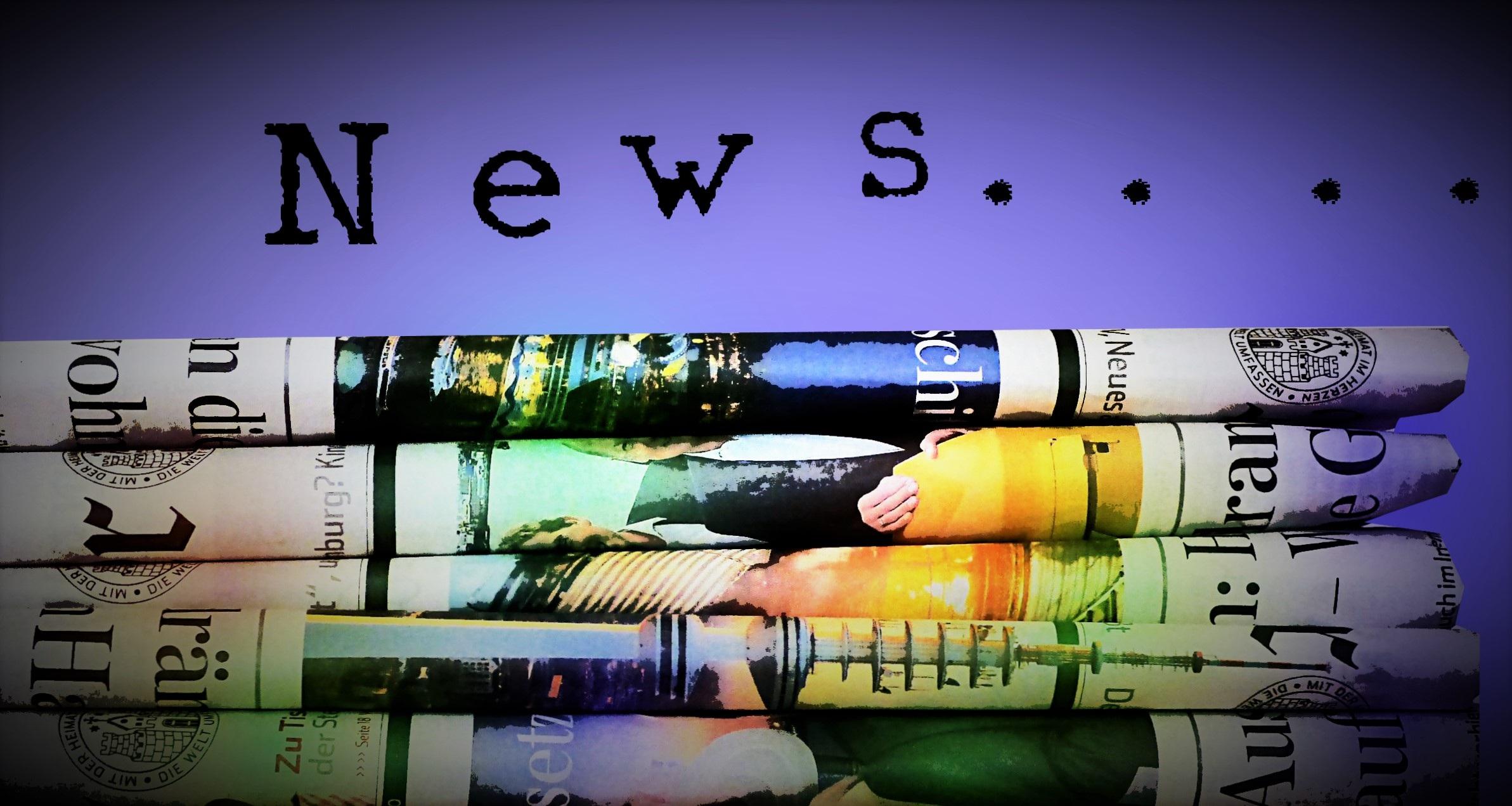 Zeitungsstapel für News
